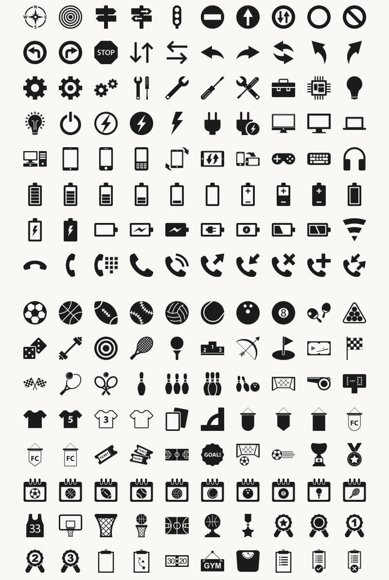 Incredible 2016 Icons Bundle Preview 03
