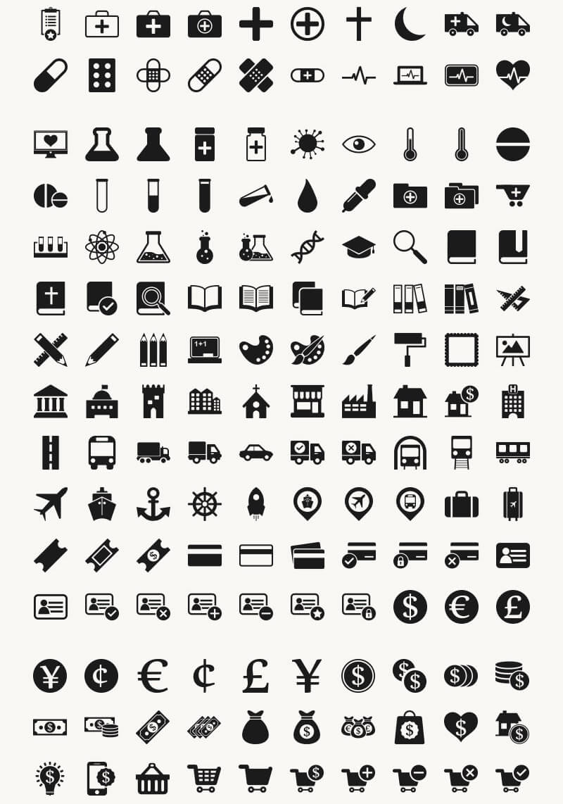Incredible 2016 Icons Bundle Preview 04