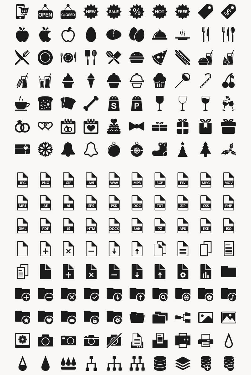 Incredible 2016 Icons Bundle Preview 05