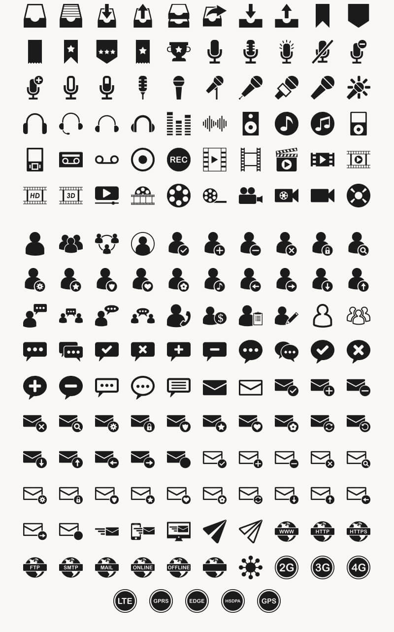 Incredible 2016 Icons Bundle Preview 07