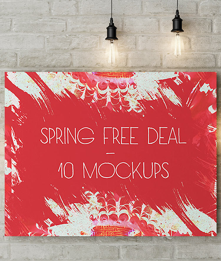 Spring Free Deal 10 Mockups Covor