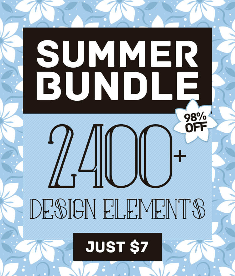 Summer Bundle 2400 Vector Icons Cover