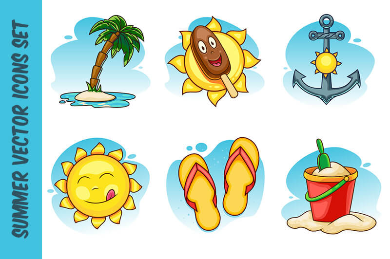 Summer Bundle 2400 Vector Icons Preview 34