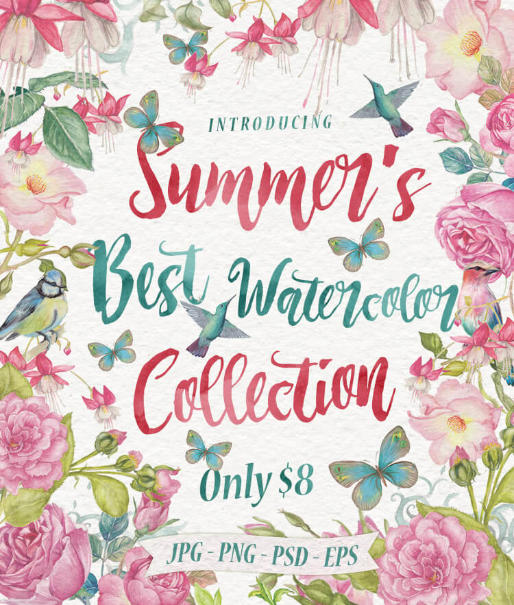 Summers Best Watercolor Collection Cover