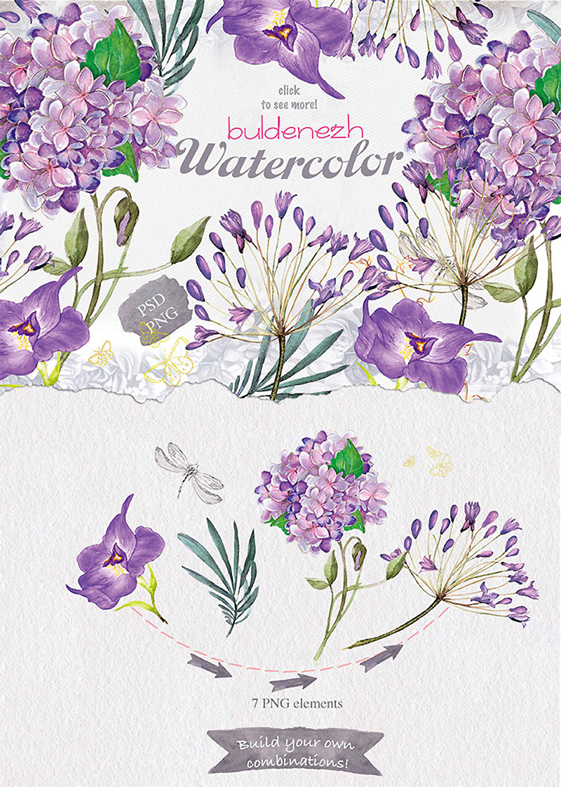 Summers Best Watercolor Collection Preview 01
