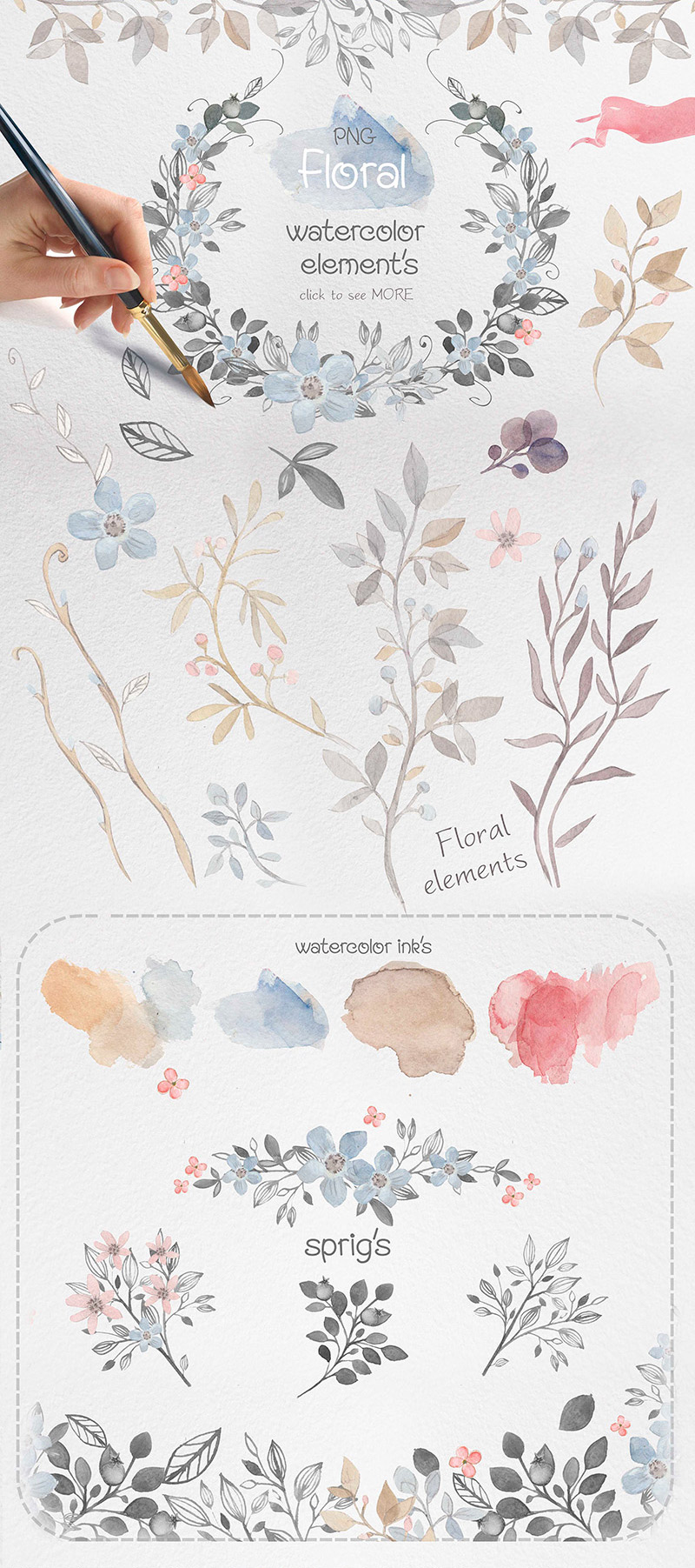 Summers Best Watercolor Collection Preview 15