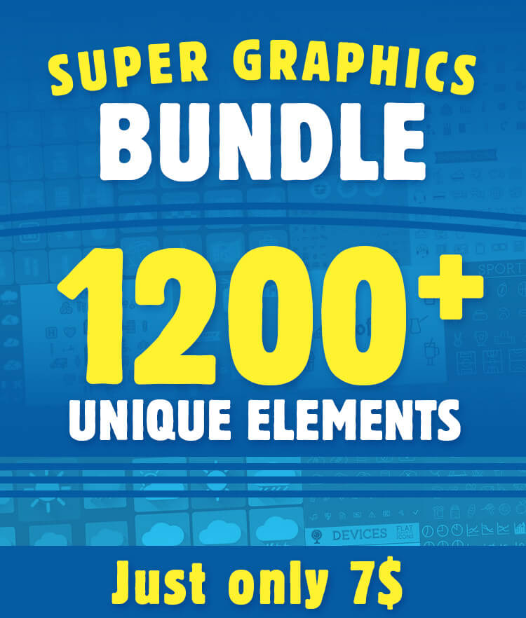Super Graphics Bundle 1200 Unique Elements
