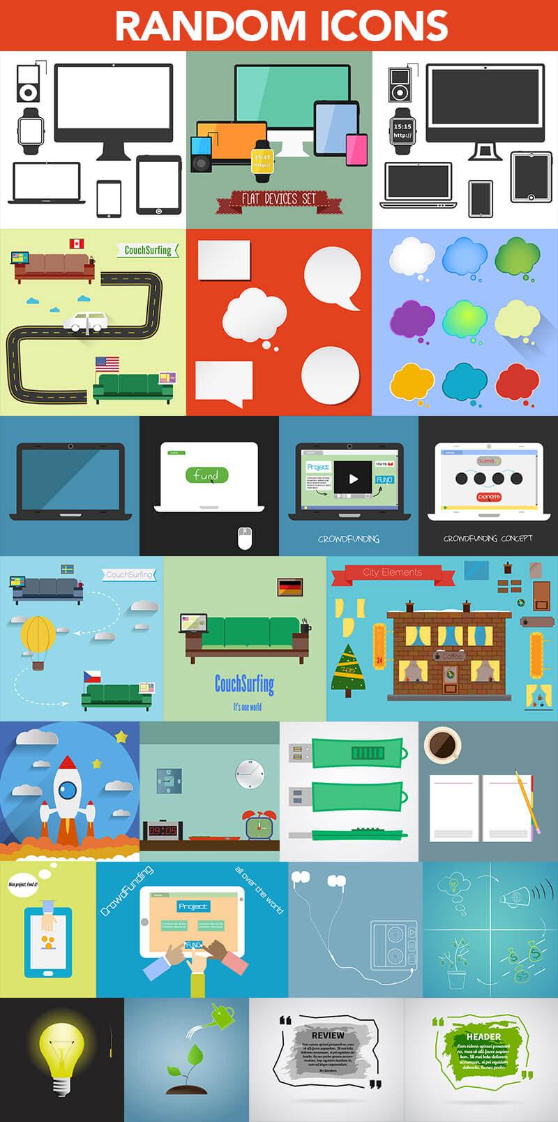 Super Graphics Bundle 1200 elements 12