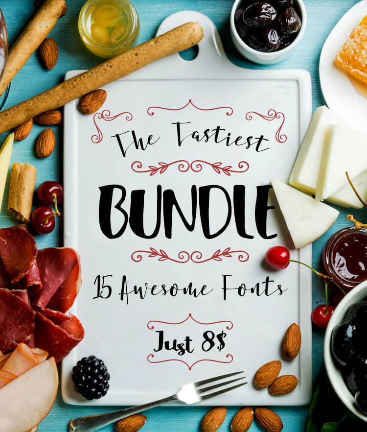 The Tastiest Bundle 15 Awesome Font Cover
