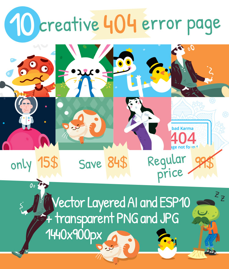 10 Creative 404 error pages