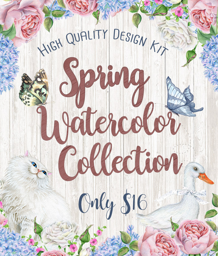 Spring Watercolor Collection Cover Bundle
