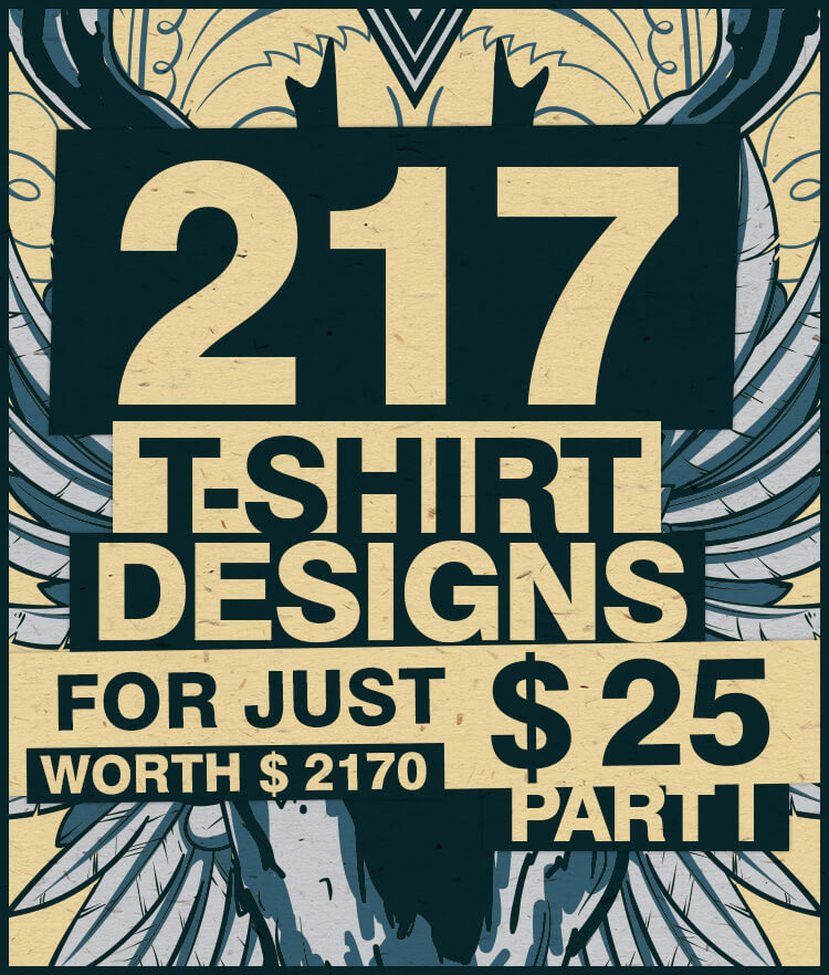 217 Tshirt Designs Cover