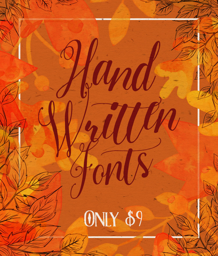 7 Hand Written Fonts Cover