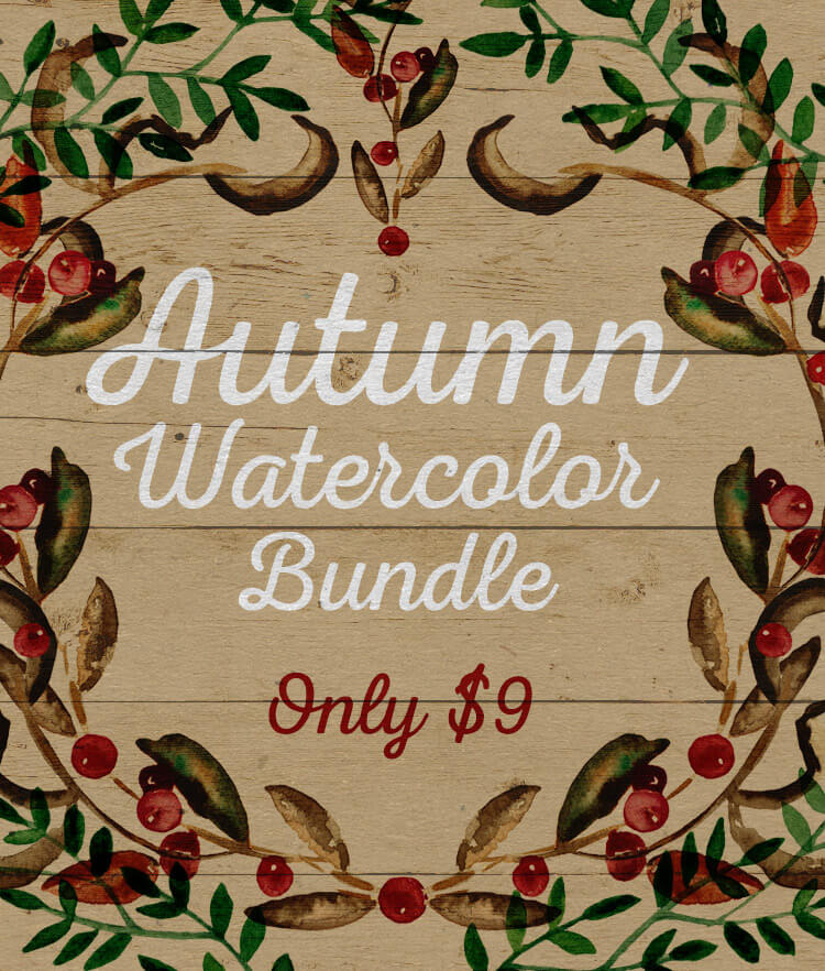 Autumn Watercolor Bundle Cover