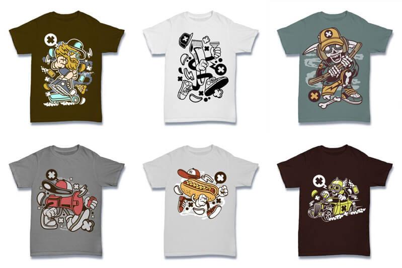 Cartoon Vector Part 2 T shirt Designs Preview 07