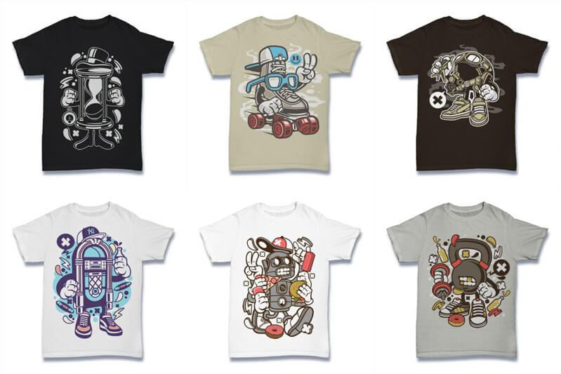 Cartoon Vector Part 2 T shirt Designs Preview 08