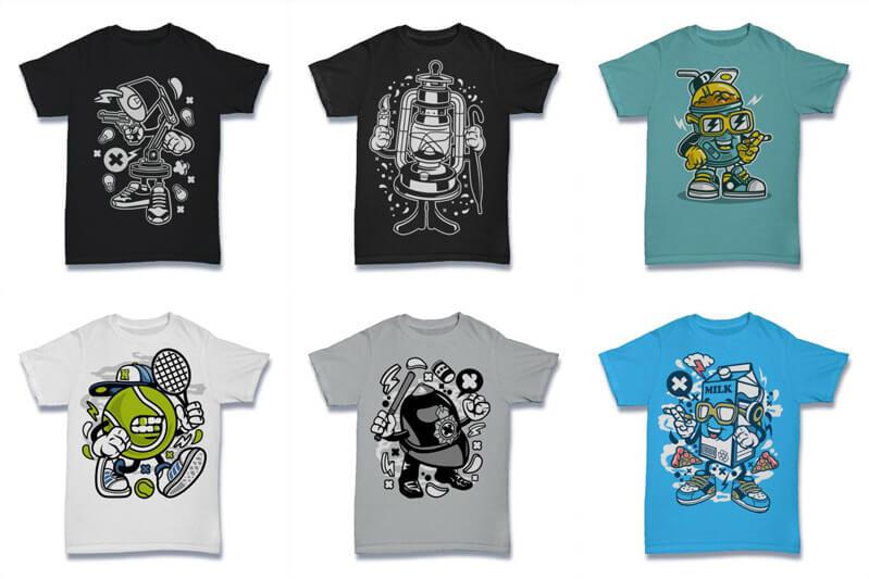 Cartoon Vector Part 2 T shirt Designs Preview 09