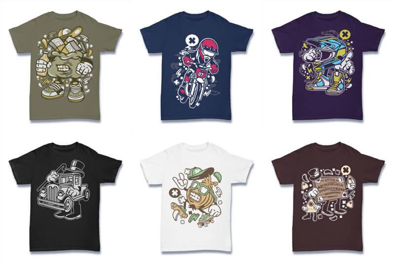 Cartoon Vector Part 2 T shirt Designs Preview 10