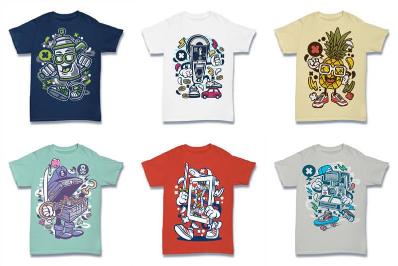 Cartoon Vector Part 2 T shirt Designs Preview 11