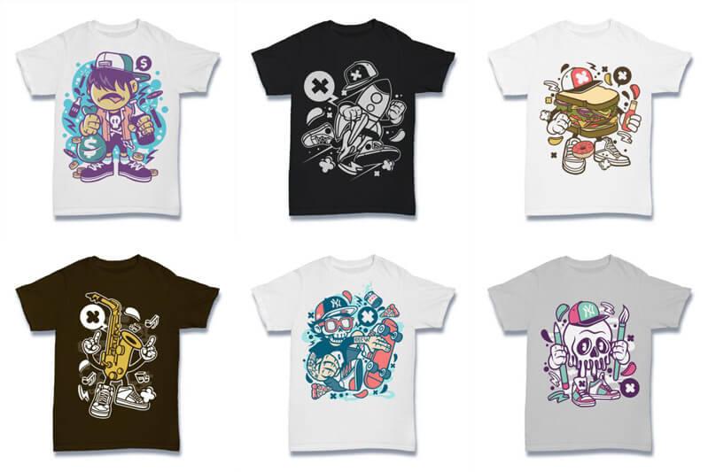 Cartoon Vector Part 2 T shirt Designs Preview 13