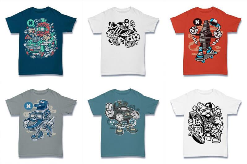 Cartoon Vector Part 2 T shirt Designs Preview 14