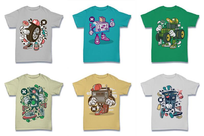Cartoon Vector Part 2 T shirt Designs Preview 15