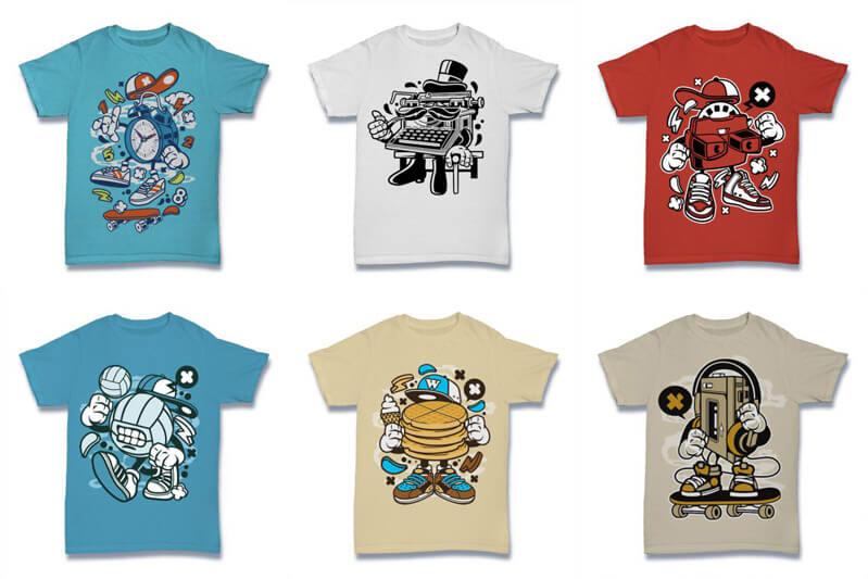 Cartoon Vector Part 2 T shirt Designs Preview 16
