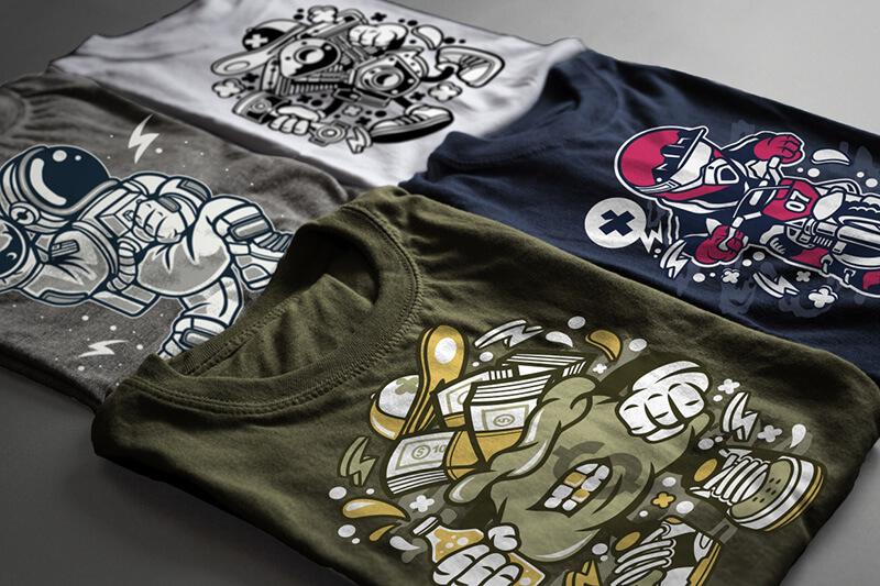 Cartoon Vector Part 2 T shirt Designs Preview 18
