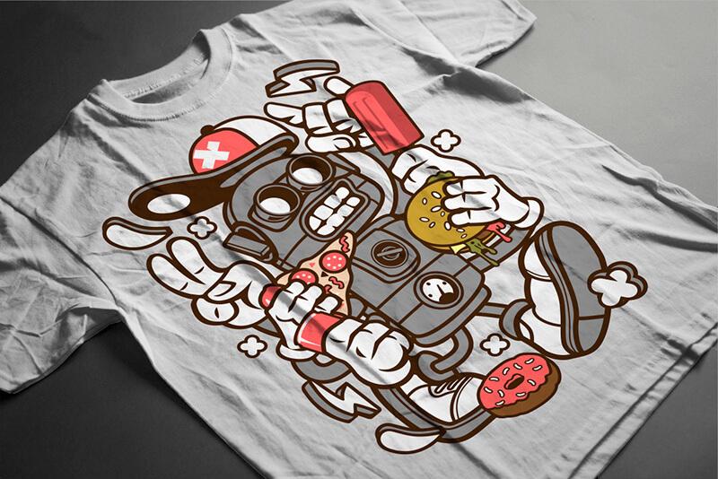 Cartoon Vector Part 2 T shirt Designs Preview 19