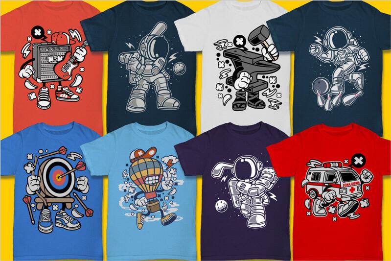 Cartoon Vector Part 3 T-shirt Designs Preview 01