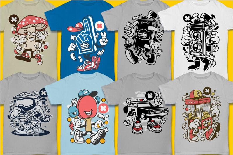 Cartoon Vector Part 3 T-shirt Designs Preview 09