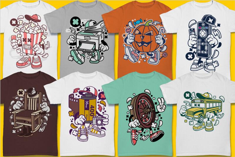 Cartoon Vector Part 3 T-shirt Designs Preview 10