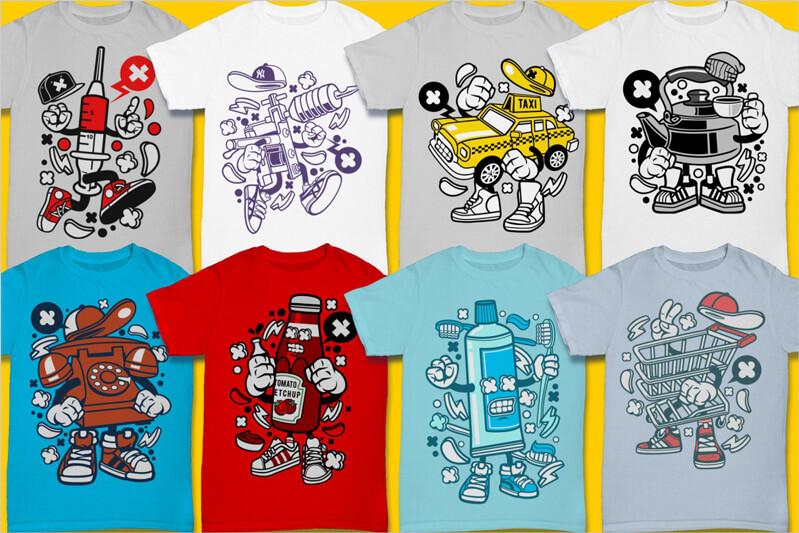 Cartoon Vector Part 3 T-shirt Designs Preview 12