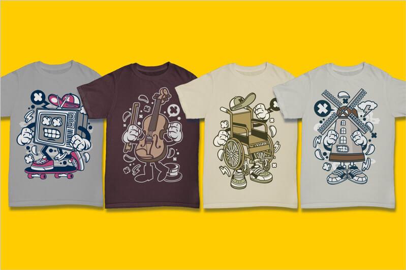 Cartoon Vector Part 3 T-shirt Designs Preview 13