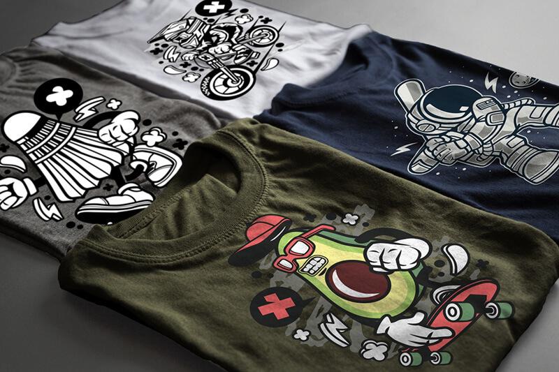 Cartoon Vector Part 3 T-shirt Designs Preview 14