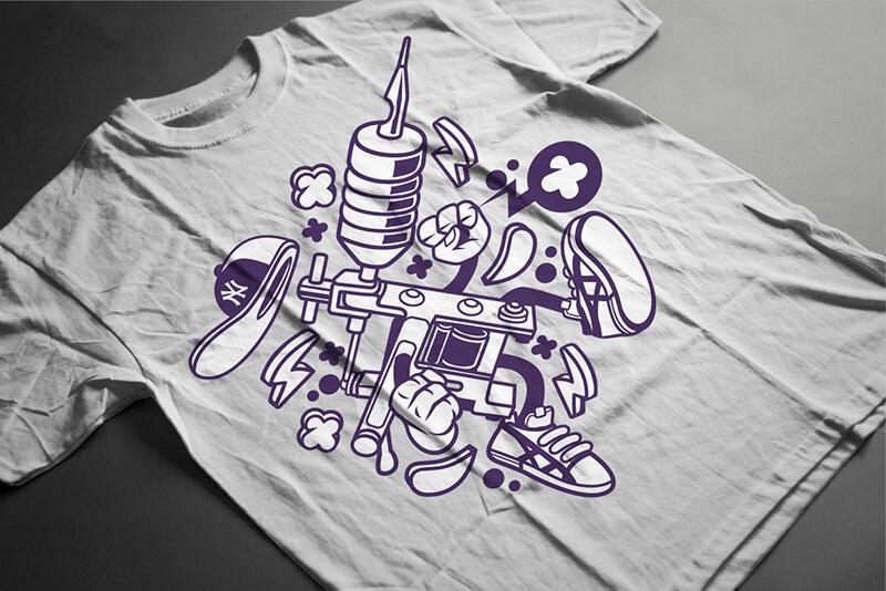 Cartoon Vector Part 3 T-shirt Designs Preview 15