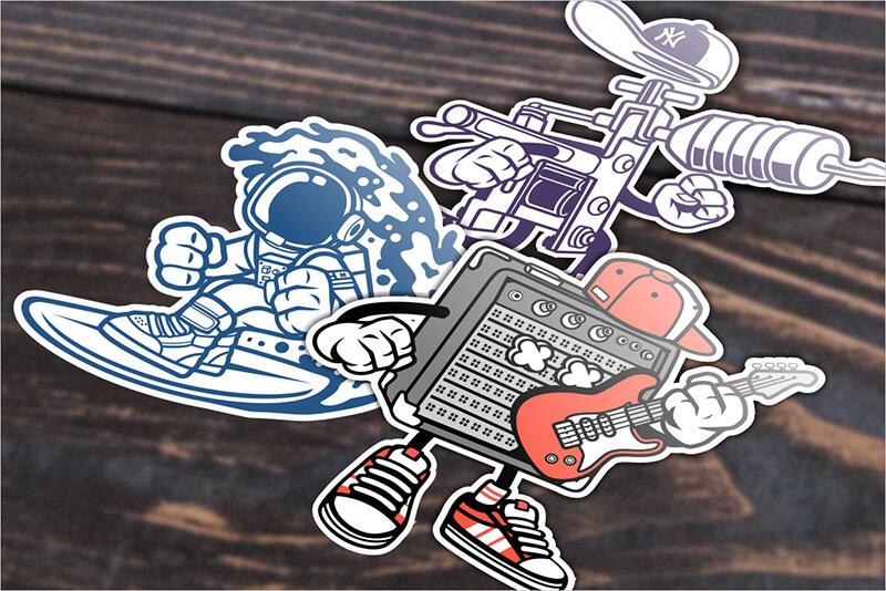 Cartoon Vector Part 3 T-shirt Designs Preview 16