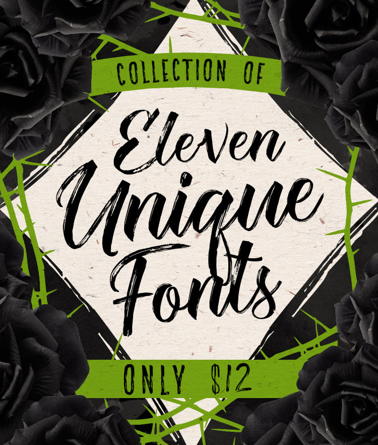 Collection of 11 Unique Fonts Cover