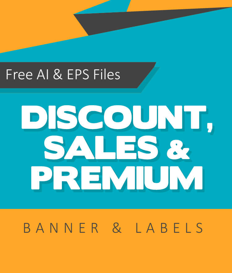 Free Discount sales and premium banner Cover