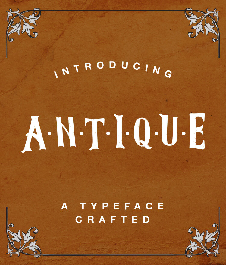 FREE Antique Font Cover