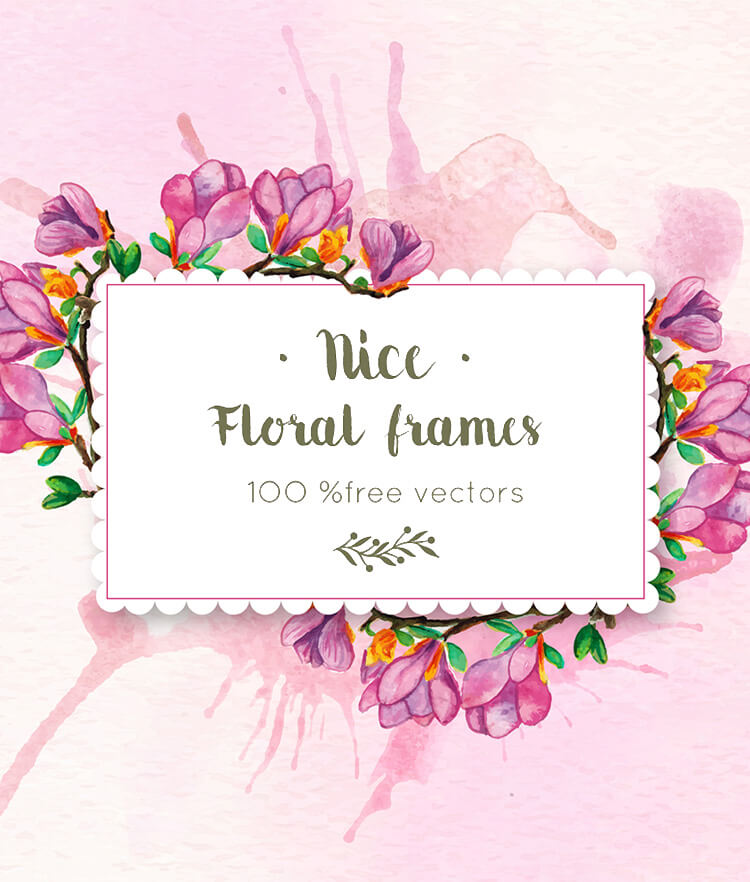 FREE Floral frames Cover