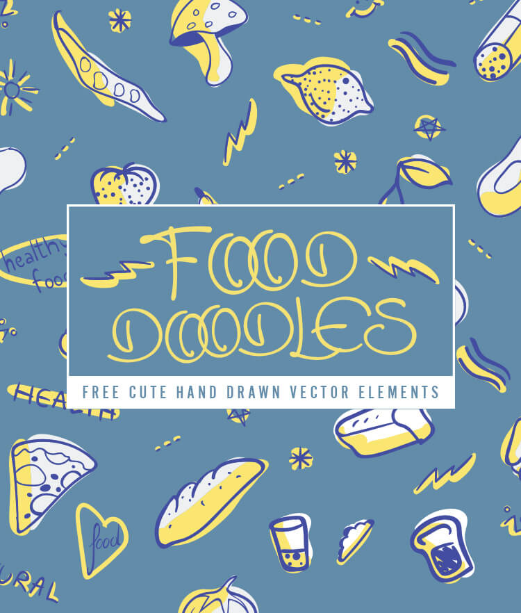 FREE Food doodles elements Cover