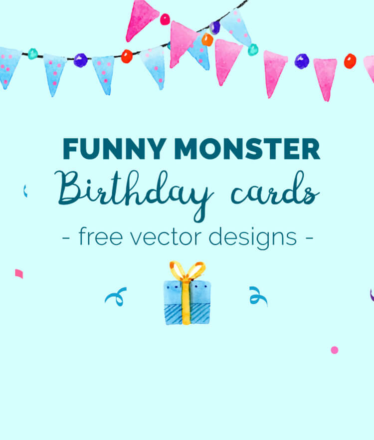 FREE Funny Monster Birthday Cards Cover