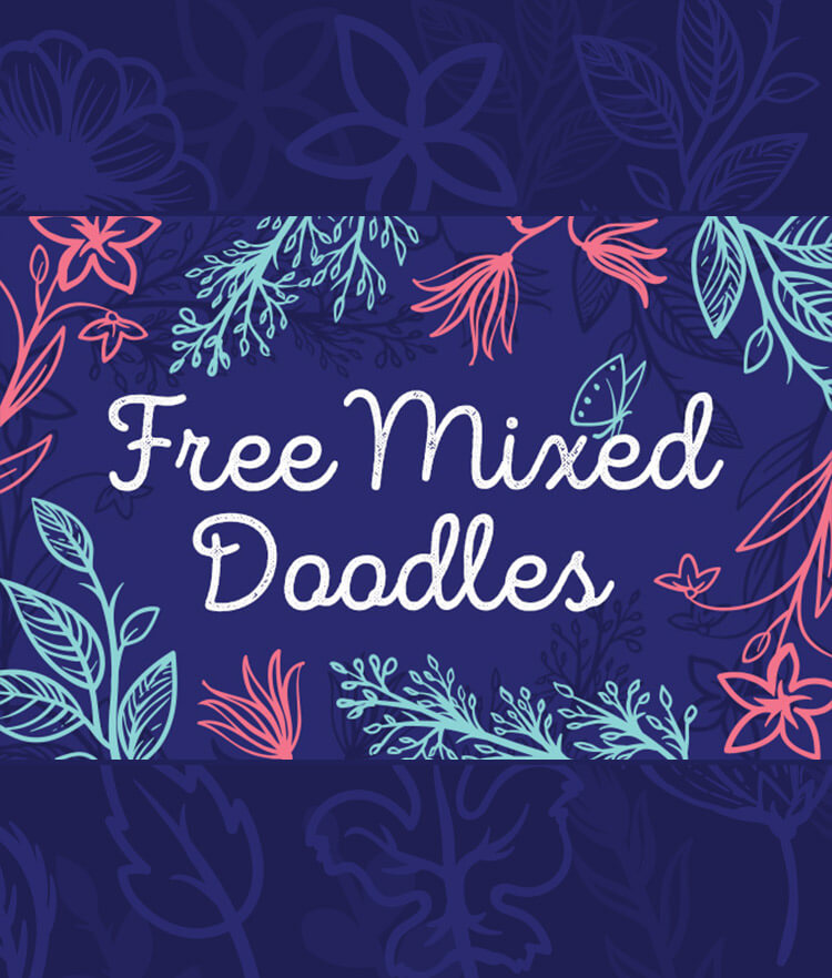 FREE Mixed Doodle Cover
