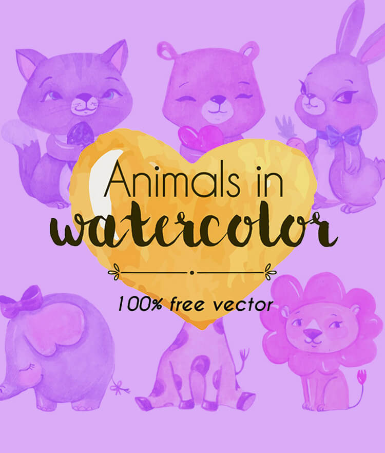 FREE Watercolor Animalitos Cover