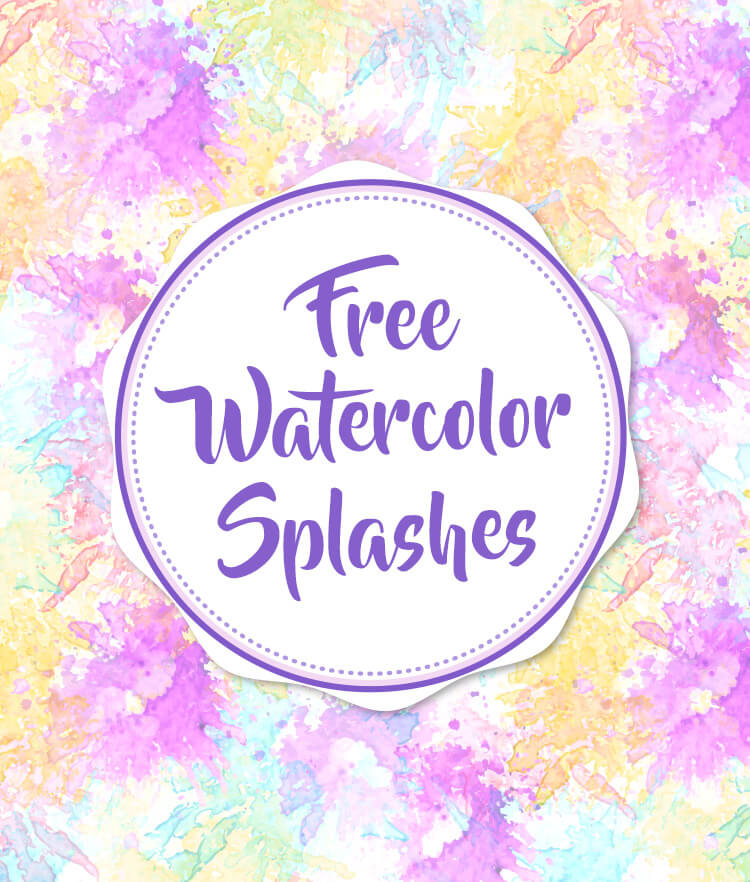 Free Watercolor Splashes Cover