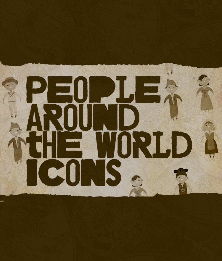 People around the world icons Cover