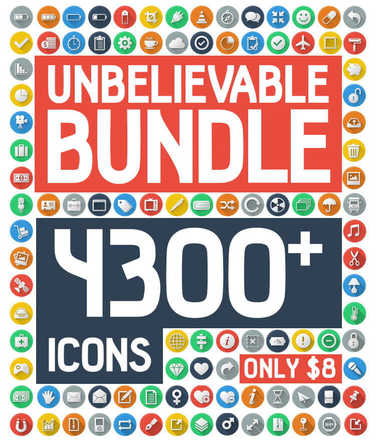 Unbelievable Bundle 4300 Icons Cover