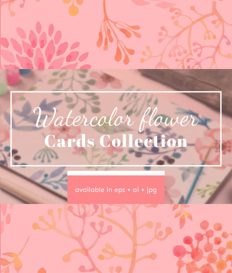 Watercolor Flower Cards Collection Cover