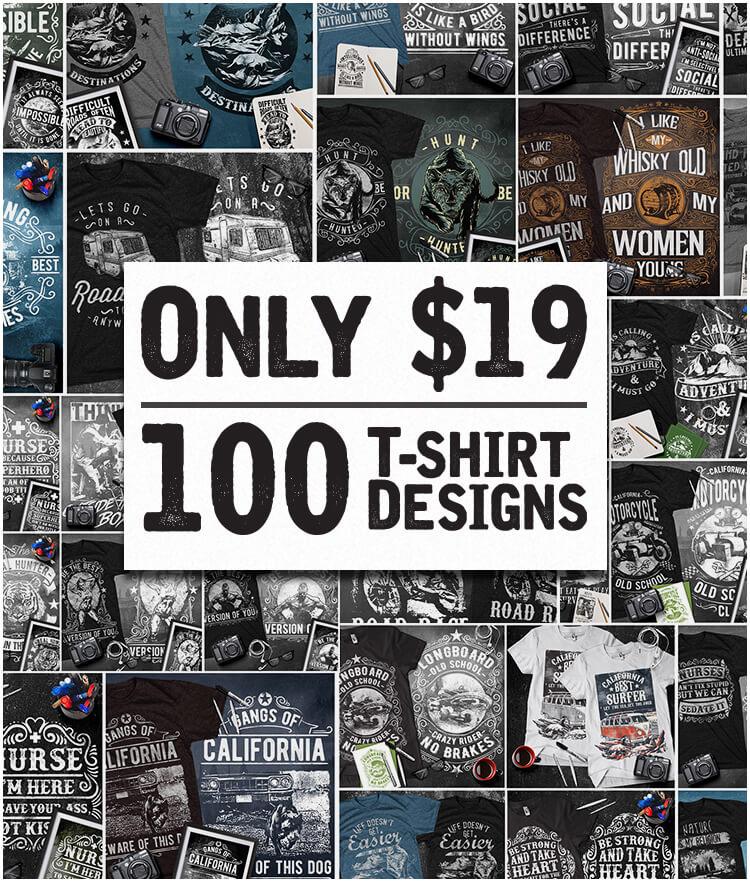 100-Premium-T-Shirt-Designs-Cover